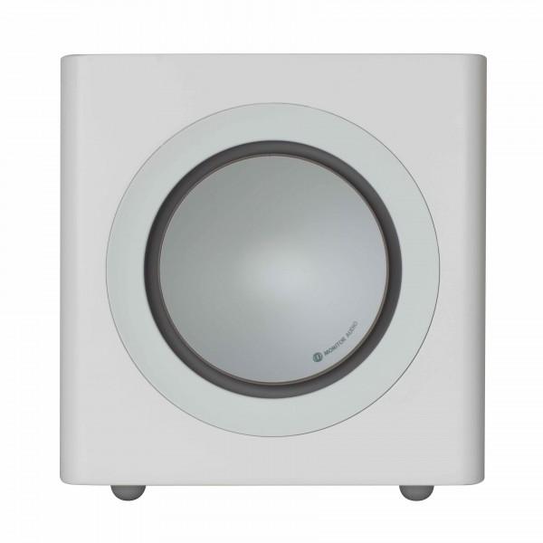 Monitor Audio Radius 380 Subwoofer Weiß Side/Seite